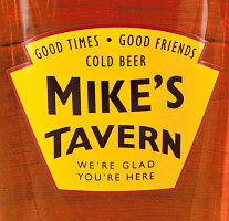 Personalized Yellow Tavern Glassware & Barware