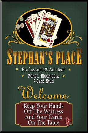 Poker Signs & Wall Decor