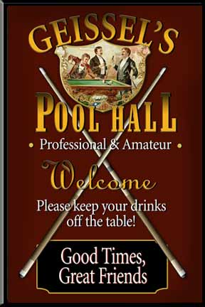 Billiard Signs & Wall Decor