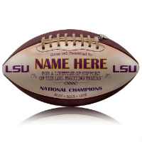 Personalized Licensed NCAA College Footballs