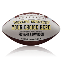 Personalized Footballs - Authentic Leather