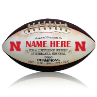 Personalized College Footballs - NCAA Licensed Team Logo