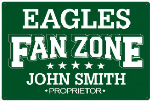Personalized Football Fan Signs
