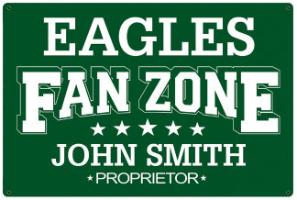 Personalized Football Fan Signs