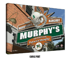 Personalized College Football Sports Pub Signs