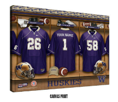 Personalized College Football Locker Room Signs