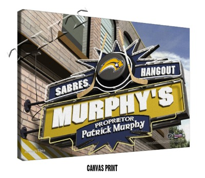 Personalized Buffalo Sabres NHL Sports Room Pub Sign - Canvas Mounted PrintPersonalized Buffalo Sabres NHL Sports Room P