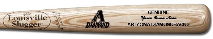 Louisville Slugger Personalized Arizona Diamondbacks Team Logo Baseball Bat - Natural Wood