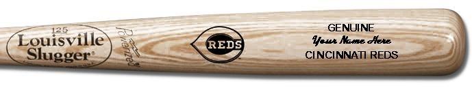 Louisville Slugger Personalized Cincinnati Reds Team Logo Baseball Bat - Natural Wood