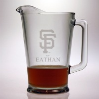 Personalized MLB Baseball Glass Pitcher