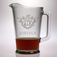 Personalized NBA Basketball Glass Pitcher