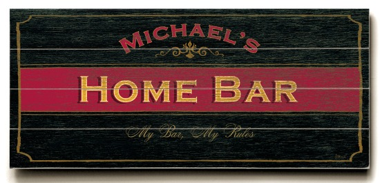 Personalized Home Bar Sign - 4 Planked 14 x 32 Wood Sign - Design Your Own Sign - Sample 2