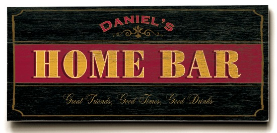 Personalized Home Bar Sign #2 - 3 Planked 10 x 24 Wood Sign - Design Your Own Sign - Sample 1