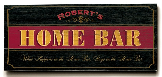 Personalized Home Bar Sign #2 - 3 Planked 10 x 24 Wood Sign - Design Your Own Sign - Sample 3