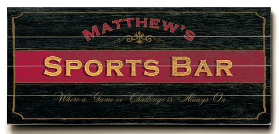 Personalized Sports Bar Sign - 4 Planked 14 x 32 Wood Sign - Design Your Own Sign - Sample 2