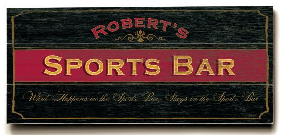 Personalized Sports Bar Sign - 3 Planked 10 x 24 Wood Sign - Design Your Own Sign - Sample 3