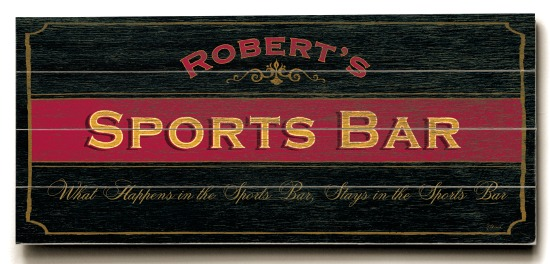 Personalized Sports Bar Sign - 4 Planked 14 x 32 Wood Sign - Design Your Own Sign - Sample 4