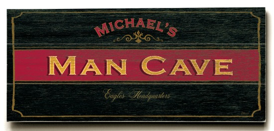 Personalized Man Cave Sign - 3 Planked 10 x 24 Wood Sign - Design Your Own Sign - Sample 1