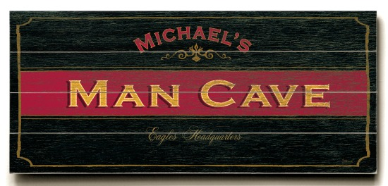 Personalized Man Cave Sign - 4 Planked 14 x 32 Wood Sign - Design Your Own Sign - Sample 2
