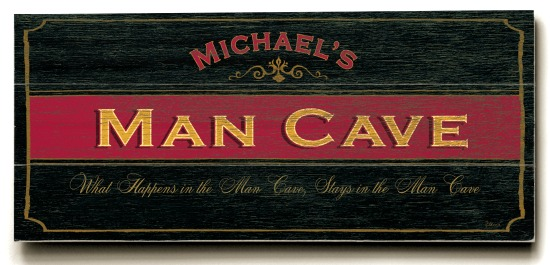 Personalized Man Cave Sign - 3 Planked 10 x 24 Wood Sign - Design Your Own Sign - Sample 3