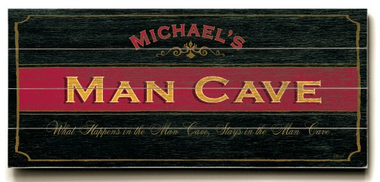 Personalized Man Cave Sign - 4 Planked 14 x 32 Wood Sign - Design Your Own Sign - Sample 4