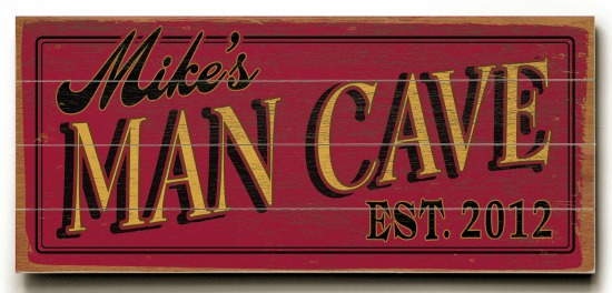 Personalized Man Cave Sign #3 - 4 Planked 14 x 32 Wood Sign - Design Your Own Sign - Sample 2
