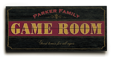 Personalized Game Room Sign #2 - 4 Planked 14 x 32 Wood Sign - Design Your Own Sign - Sample 5