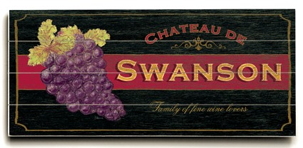 Personalized Vineyard Sign - 4 Planked 14 x 32 Wood Sign - Design Your Own Sign - Sample