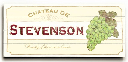 Personalized Vineyard Sign 2 - 4 Planked 14 x 32 Wood Sign - Design Your Own Sign - Sample