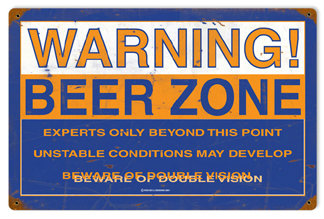 Beer Zone Vintage Metal Sign