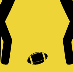 Men Watching Football Caution Metal Sign - close up football
