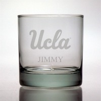 Personalized NCAA College Rocks Glass