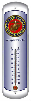 Marines Metal Thermometer