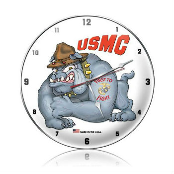 Marines Bulldog Clock