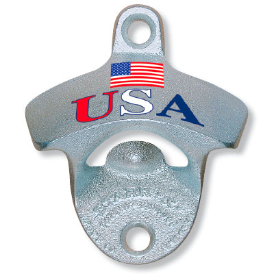 usa flag bottle opener cap catcher set. Black Bedroom Furniture Sets. Home Design Ideas