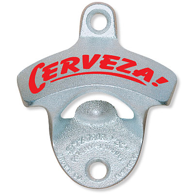 Cerveza Bottle Opener & Cap Catcher Set comes with your choice of cap catcher. Click arrow above to see catchers.