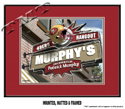 personalized san francisco 49ers nfl sports room pub sign. Black Bedroom Furniture Sets. Home Design Ideas