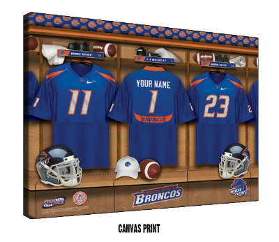 Personalized Boise State Football Locker Room Sign - Canvas Mounted Print