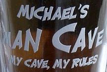 Personalized Man Cave - My Cave, My Rules Pint Glasses - Close Up