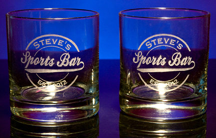 Personalized Sports Bar Double Old Fashioned Glasses