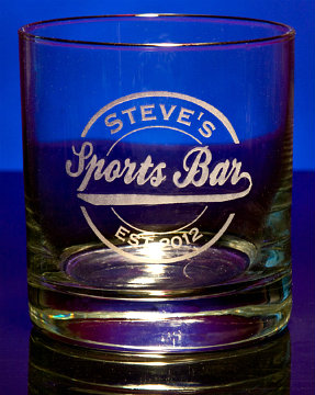 Personalized Sports Bar Double Old Fashioned Glass