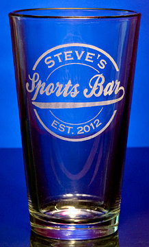 Personalized Sports Bar Pint Glass
