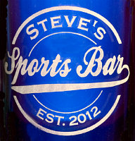 Personalized Sports Bar Logo - Close Up