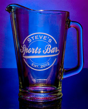 Personalized Sports Bar Glass Pitcher