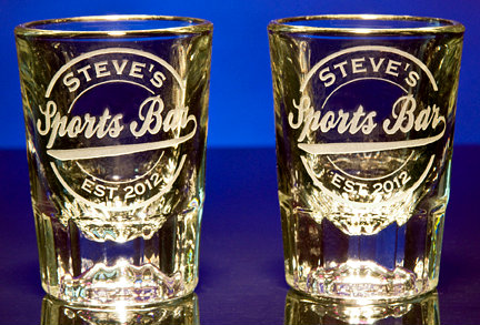 Personalized Sports Bar Shot Glasses
