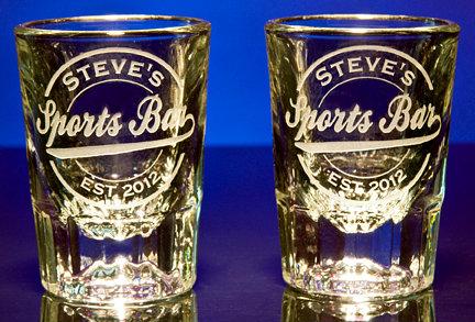 Personalized Sports Bar Shot Glasses