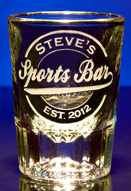 Personalized Sports Bar Shot Glass
