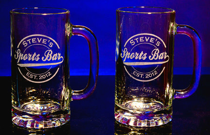 Personalized Sports Bar Tankard Mugs