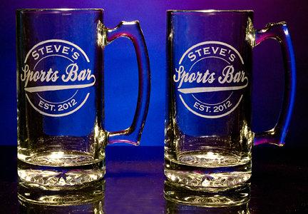Personalized Sports Bar Tankard Mugs - Extra Large