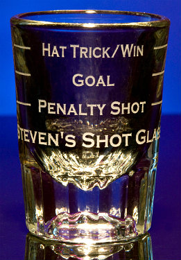 Personalized Hockey Sports Game Shot Glasses
